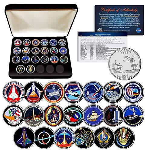 Florida State Quarter Coin - SPACE SHUTTLE PROGRAM MAJOR EVENTS NASA Florida State Quarters 20-Coin Set Box