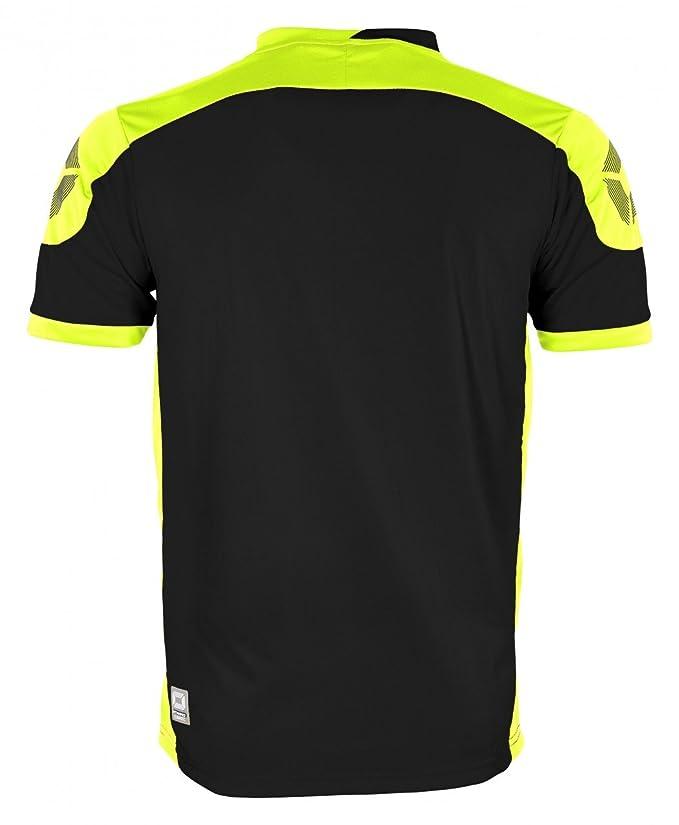 Stanno Campione Camiseta de Manga Corta de Colour Negro-Amarillo ...