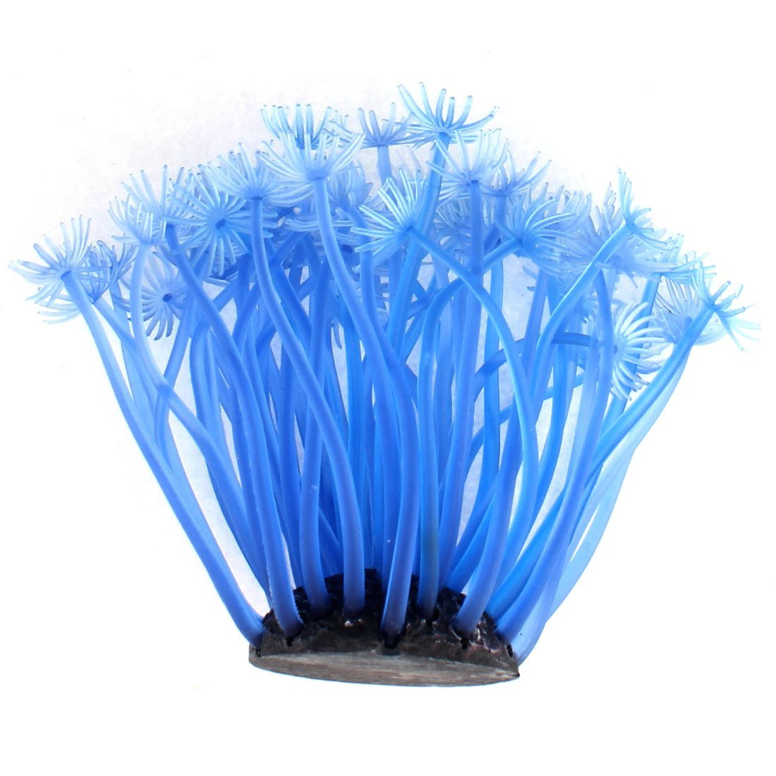 Amazon.com : eDealMax peces de acuario tanque Artificial Coral blando Planta decoración Azul del ornamento : Pet Supplies