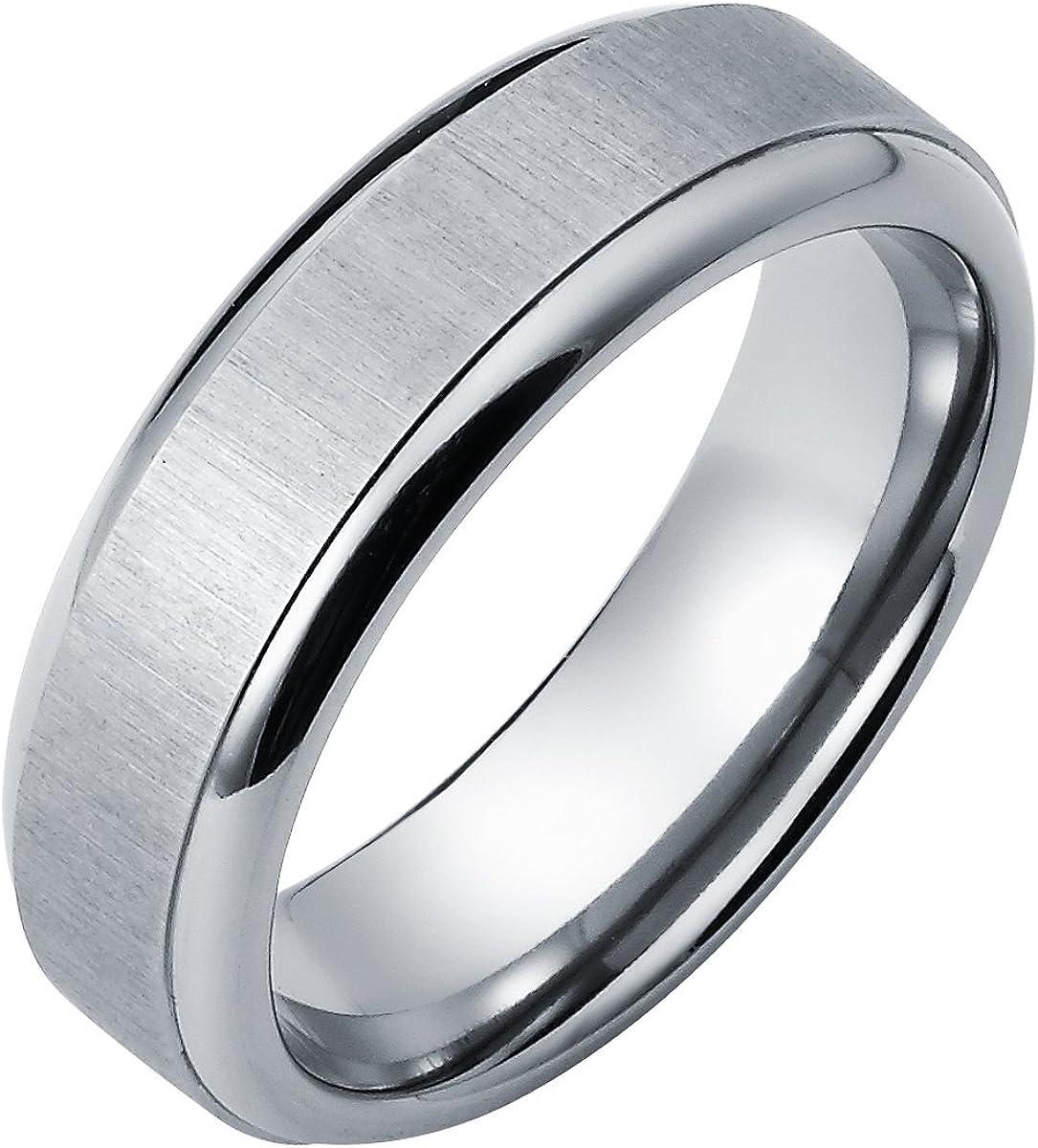 7F-ST New 7mm Wide Comfort Fit Titanium Ring