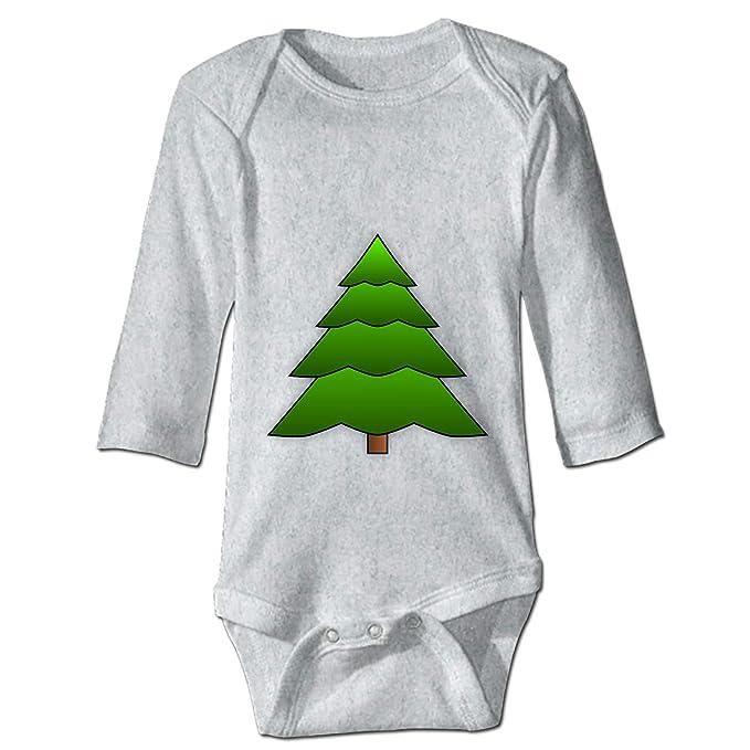 24f831d8c99 Amazon.com  WilBstrn Baby Boy Jumpsuit Soft Onesie Fir Tree Romper Long  Sleeve Bodysuit for Girl  Clothing