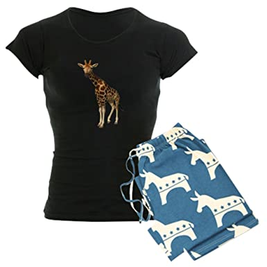 a6b1a9e3b8 Amazon.com  CafePress-The Giraffe Women s Dark Pajamas-Womens ...