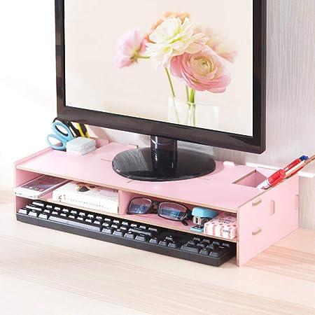 Pink Monitor Stand Monitor Stand Riser Heightening Desk Storage ...