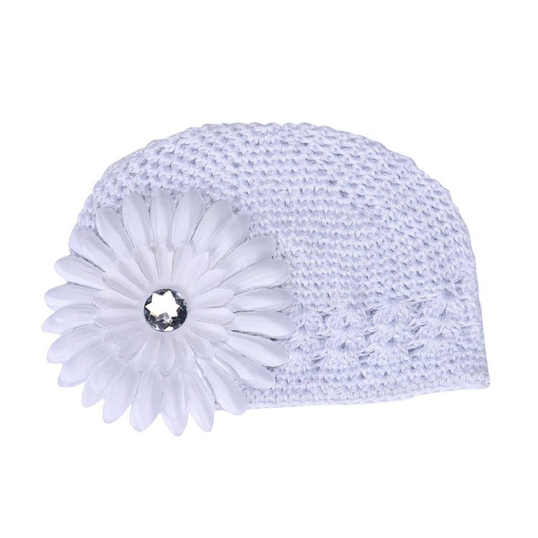 Lovely Cute Baby Girls Flower Hats Baby Hats hat Winter Autumn TM FEITONG
