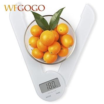 wfgogo multi-functional báscula de cocina compacto plegable cocinar medir herramienta electrónica pantalla lcd báscula digital de cocina alimentos: ...