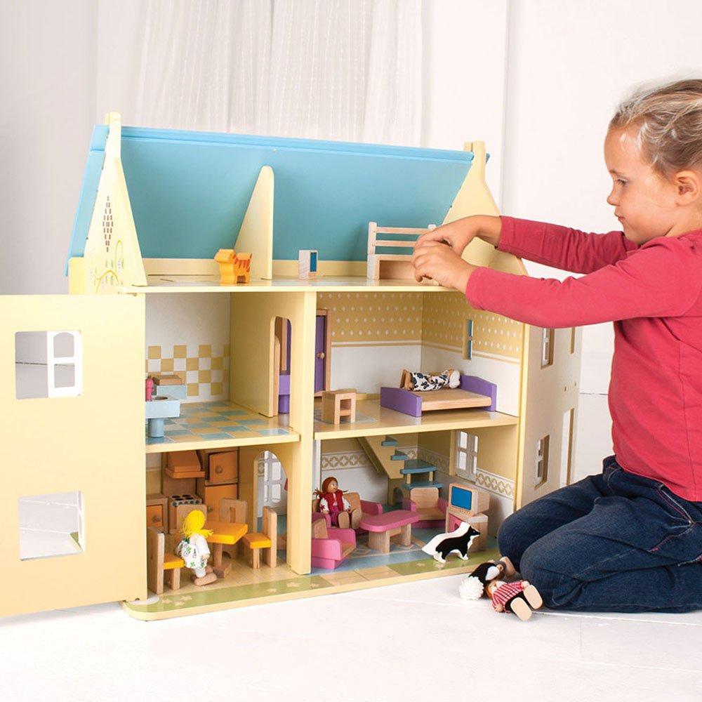 Lovely Amazon.com: Bigjigs Toys Heritage Playset Sunflower Cottage   Wooden Doll  House: Toys U0026 Games