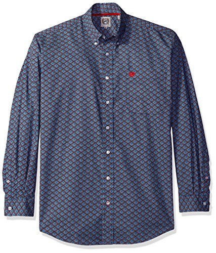 Cinch Mens Classic Fit Long Sleeve Button One Open Pocket Print Shirt