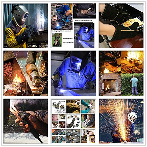 Shan water mouth Winter Climbing Cut-Proof Safety Gloves Welding Gloves, Two-Layer Leather Welding Gloves, Leather Anti-Cut Gloves, High-Temperature Resistant Gloves by Shan water mouth (Image #4)
