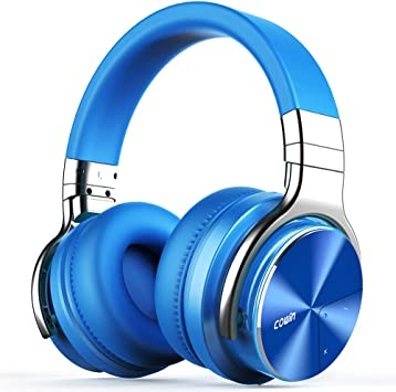 Amazon Com Cowin E7 Pro Upgraded Active Noise Cancelling Headphones Bluetooth Headphones With Microphone Deep Bass Wireless Headphones Over Ear 30 Hours Playtime For Travel Work Blue Electronics