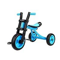 Fascol Triciclo Trike Bicicleta con Goma de Ruedas para Niños, 2 a 5 Años,Máx Carga 25 kg, Azul