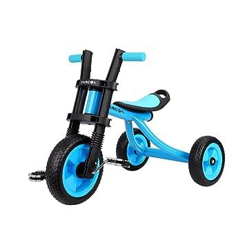 Fascol Triciclo Trike Bicicleta con Goma de Ruedas para Niños, 2 a 5 Años,
