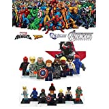 ABG toys Minifigures MARVEL DC Comics Avengers X-Men Civil War Super Heroes Wolverine, Iron Man (two versions), Winter Soldier, Captain Marvel, Mystique, Captain America Minifigure Series Building Blocks Sets Toys