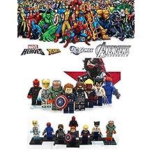 ABG toys Minifigures MARVEL DC Comics Avengers X-Men Civil War Super Heroes Wolverine, Iron Man (two versions), Winter Soldier, Captain Marvel, Mystique, Captain America Minifigure Series Building Blocks Sets Toys