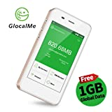 GlocalMe G3 4G LTE Mobile Wi-Fi Hotspot Global MiFi with 1GB free initial global data, No SIM Card, Free Roaming Charges, International Pocket MiFi with 5350mAh power bank,fast charge (G3,Gold)
