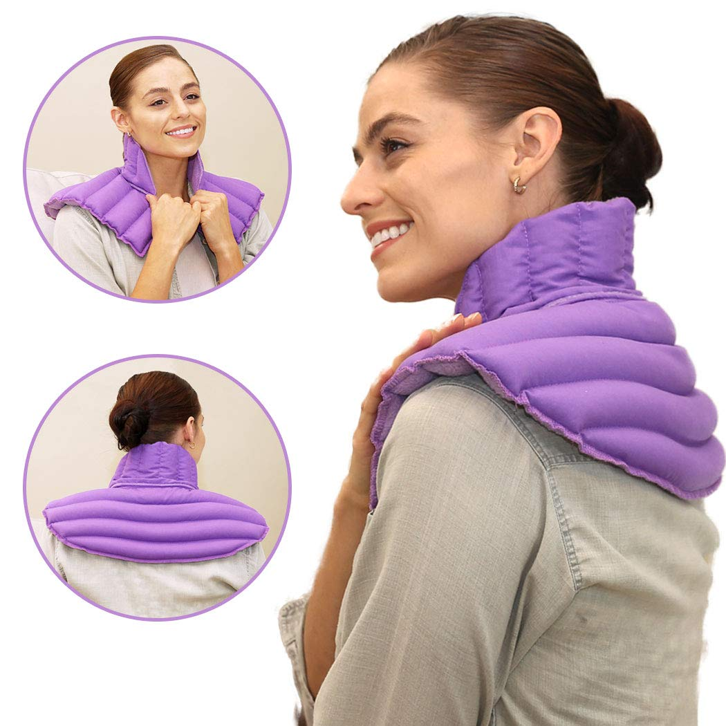 My Heating Pad Microwave Neck and Shoulder Heating Pad Plus| Neck Wrap Microwavable for Relief of Pain, Sore Muscles, Stress, Tension and Headaches | Neck and Shoulder Heating Pad (Purple Plus)