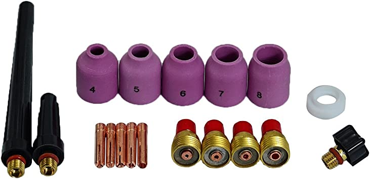 TIG Gas Lens Nozzle Cup Collets Assorted Size Fit WP 9 20 25 TIG Welding Torch
