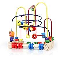 Giochi Frutta Bead Maze Legno Classico Roller Coaster Puzzle per Bambini