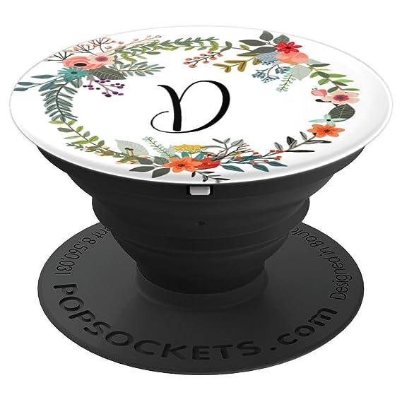amazon com letter d floral wreath monogram favor gift stocking