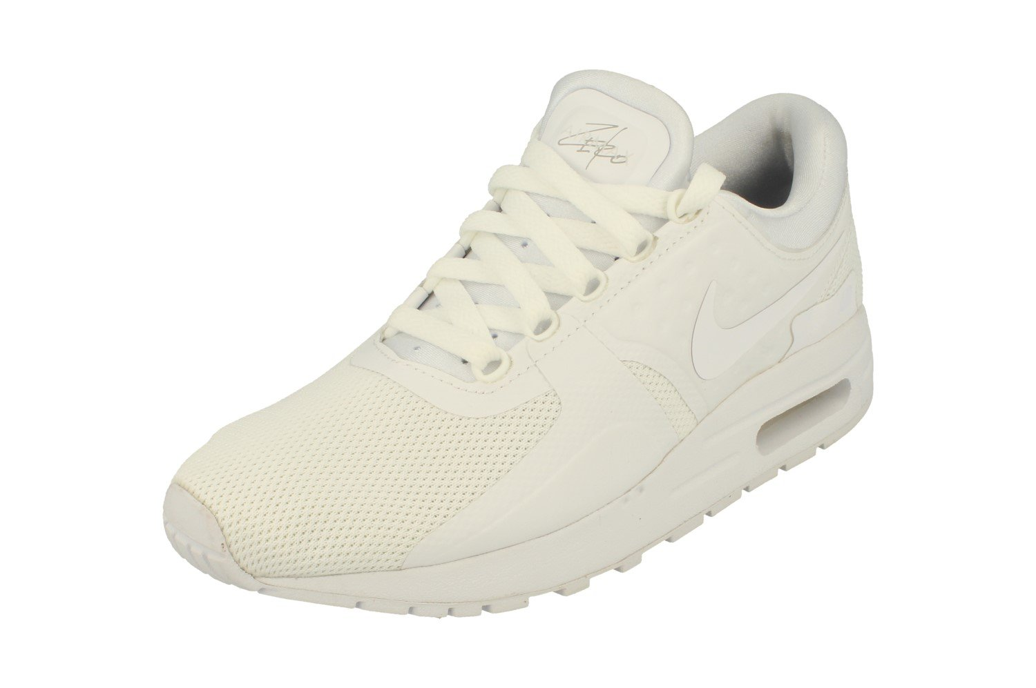 Nike Air Max Zero Essential GS Running Trainers 881224 Sneakers Shoes (UK 3 US 3.5Y EU 35.5, White Wolf Grey 100)