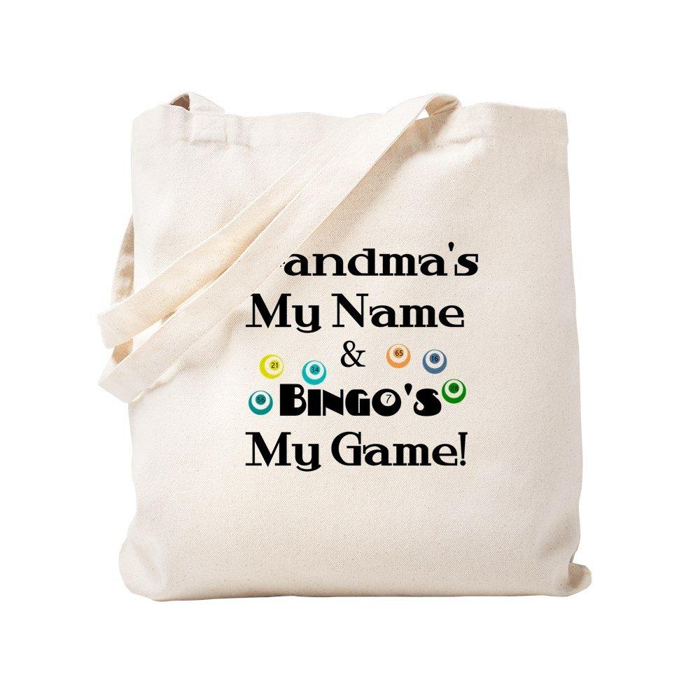 CafePress - Grandma And Bingo - Natural Canvas Tote Bag, Cloth Shopping Bag