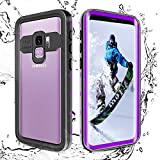 Shellbox Samsung Galaxy S9 Case, Waterproof Underwater Cover Fully Sealed Shock Dirt Snow Proof Cover Case with Built in Screen Protector(Purple, 5.8'')