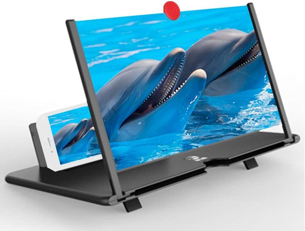 Amazon.com: Screen Magnifier Amplifier, 3D HD New Phone Holder Screen  Amplifier, Movie Video Phone Amplifier Screen Phone Projector for All  Smartphones (Black): Electronics
