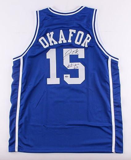 JAHLIL OKAFOR SIGNED DUKE BLUE DEVILS JERSEY BROOKLYN NETS PHILADELPHIA  76ers + 53bdb082e