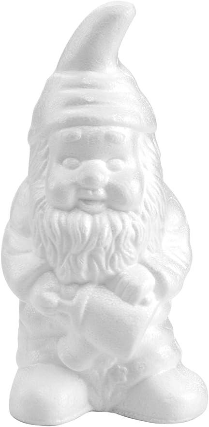 GLOREX 6 3803 743 poliestireno Enano de jardín, Blanco, 20 x 13 x 28 cm: Amazon.es: Hogar