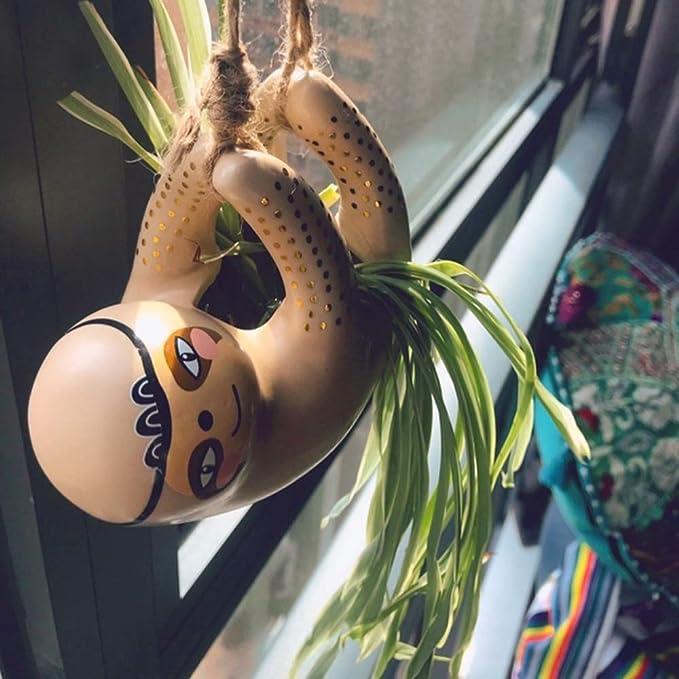 Ceramic Sloth Flower Pot