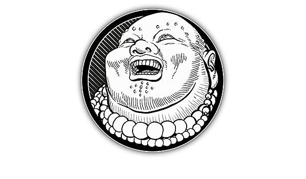"Buddha Head Car Bumper Sticker Decal 5/"" x 5/"""