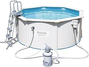 BESTWAY 56566 - Piscina Desmontable de Acero Hydrium 300x120 cm Depuradora de arena de 2.006 litros/hora: Amazon.es: Juguetes y juegos