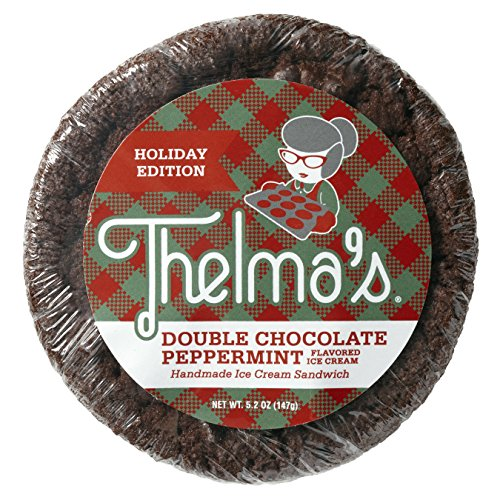 Thelma's Handmade Holiday Ice Cream Sandwiches - Double Chocolate Peppermint and Snickerdoodle Eggnog (17 Count) Chocolate Ice Cream Sandwich