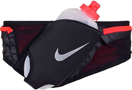 Artes literarias Moretón Obsesión  Amazon.com : Nike Running Large 20 oz Flask Hydration Running Belt  (Black/Crimson) Adjustable Unisex : Sports & Outdoors