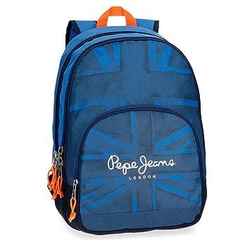 Pepe Jeans Fabio 60924B1 Mochila Escolar, 44 cm, 30.98 litros, Azul: Amazon.es: Equipaje
