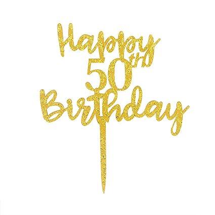 Amazon Happy 50th Birthday Cake Topper