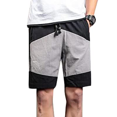 Jaycargogo Men's Linen Casual Classic Fit Beach Shorts