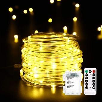 14m 120er Led Lichterschlauch Mit Fernbedienung Timer B Right 8
