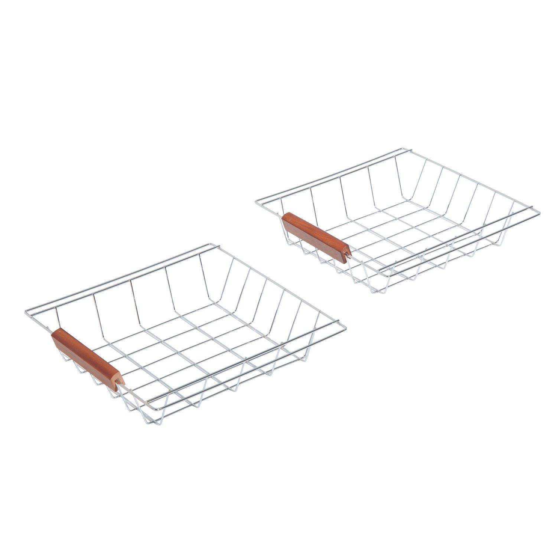 HOMCOM 30'' Wooden Rolling Kitchen Organizer Cart Tile Countertop With Basket Storage Wine Rack by HOMCOM (Image #8)