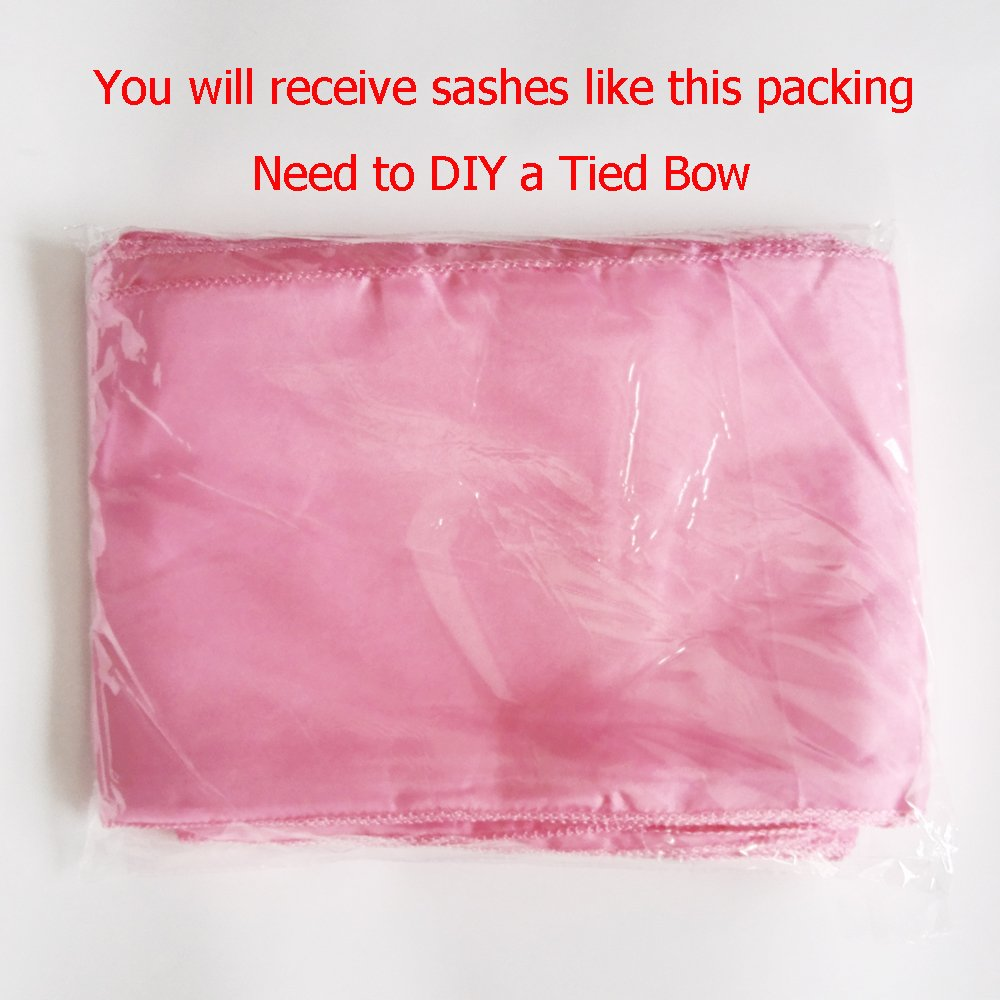 Amazon.com: 10PCS 17X275CM Satin Chair Bow Sash Wedding Reception ...