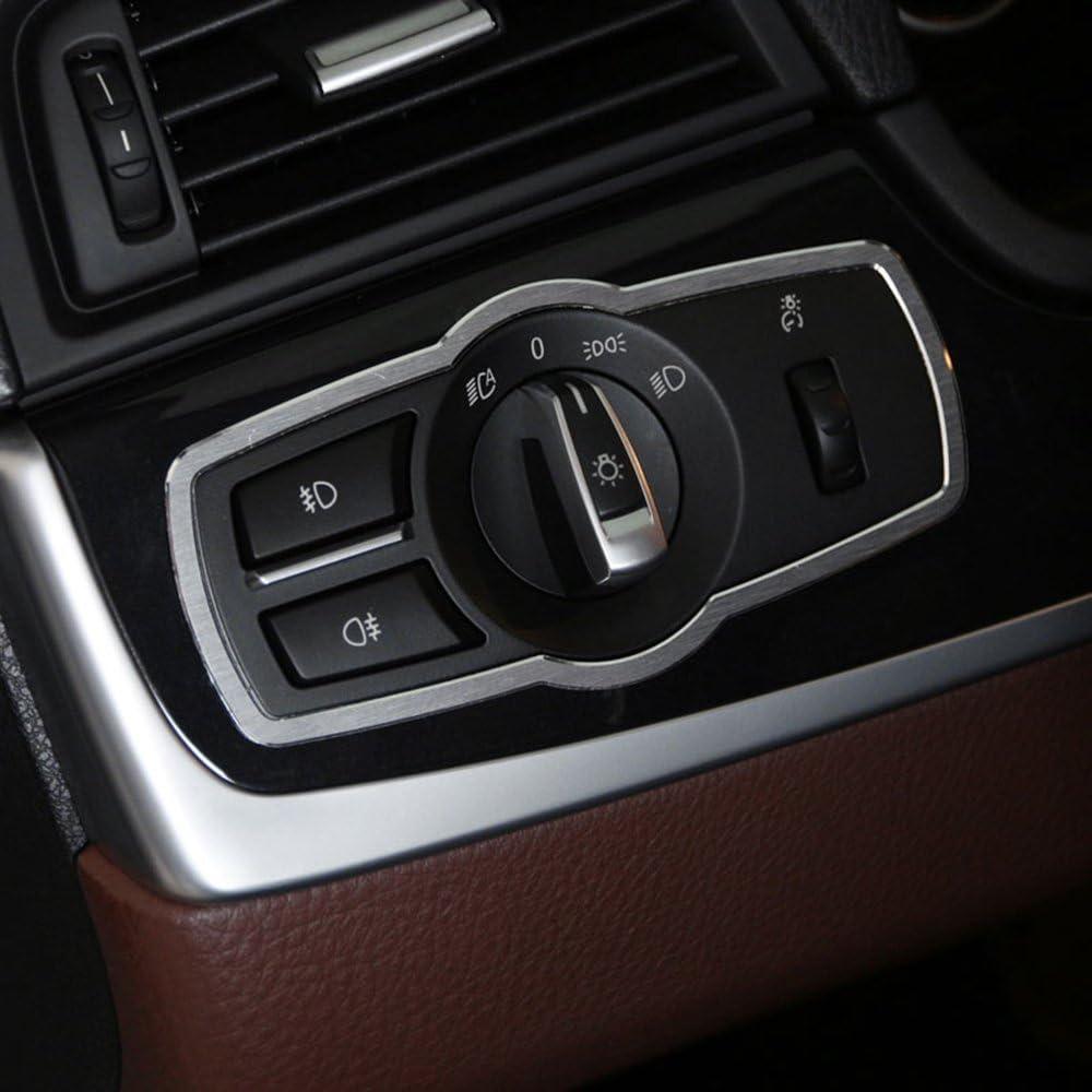 Auto Aluminiumlegierung Scheinwerferschalter Rahmenabdeckung Trim Für 5 Serie Gt F10 X3 X4 F25 F26 520li 525li 7 Serie Auto