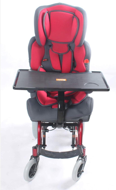 FHKBB Silla de Ruedas para niños con parálisis Cerebral de Respaldo Alto de Aluminio, Carro multifunción de Seguridad para Lesiones por discapacidad, Carrito Especial para niños