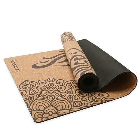 MAILAI Antideslizante Caucho Natural Corcho Estera de Yoga ...