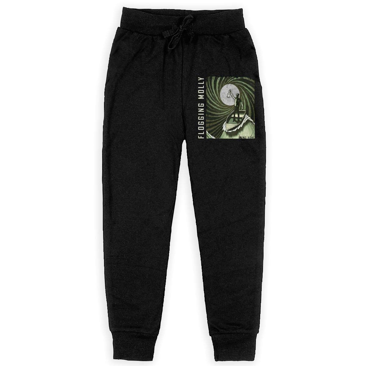 Tangzhikai Unisex Teens Flogging Molly Fashionable Music Band Fans Daily Sweatpants for Boys Gift with Pockets