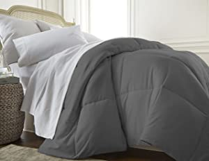 ienjoy Home Collection Down Alternative Premium Ultra Soft Plush Comforter, King, Gray