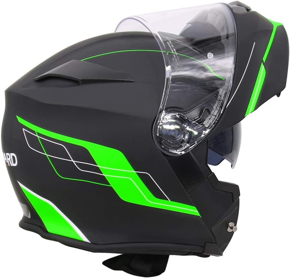 XS LEO-727 Visi/ère Anti-bu/ée Casque de Moto Modulable Bluetooth Casque int/égral ECE Standard Full Face Racing Casque de Moto Globale Noir Mat 53-54cm