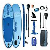 "Aquaplanet ALLROUND TEN SUP Inflatable Stand Up Paddle Board Kit | 4"" Thick 