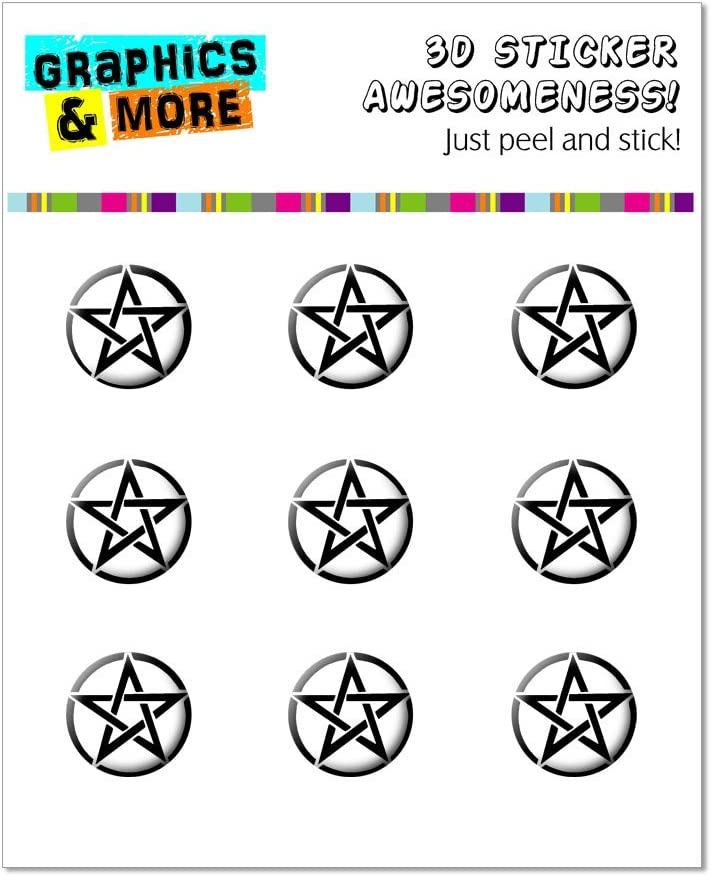 Pentagram - Home Button Stickers Fit Apple iPhone (3G, 3GS, 4, 4S, 5, 5C, 5S), iPad (1, 2, 3, 4, Mini), iPod Touch (1, 2, 3, 4, 5)