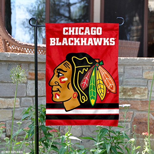 WinCraft Chicago Blackhawks Red Double Sided Garden Flag