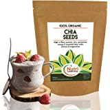 Organic Chia Seeds, Raw, Vegan Plant Protein for Endurance - Improves Metabolism - 250g