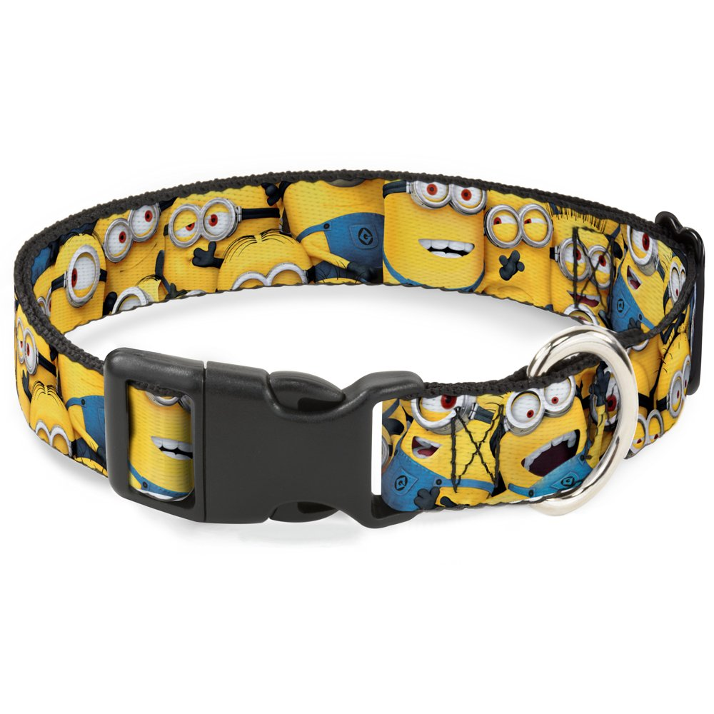 1\ Buckle-Down Despicable Me Minions Stacked Closeup Plastic Clip Collar, Large 15-26